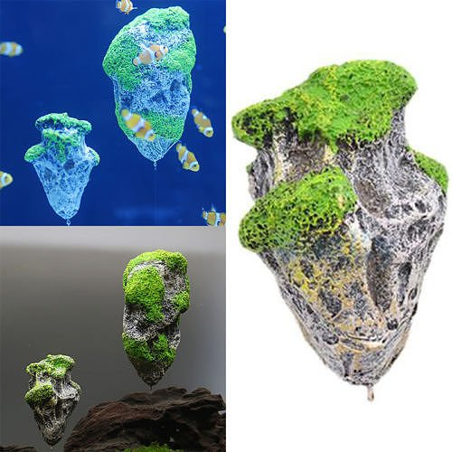 Aquarium Fish Tank Floating Rocks Suspended Stone Decoration Ornament D?cor Set50 (Omega 3 Creme Delight compare prices)