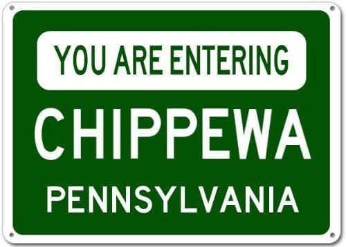 Chippewa, Pennsylvania city sign