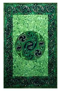 Sunshine Joy Celtic Irish Snake Tie-dye Tapestry - 60x90 Inches - Beach Sheet - Hanging Wall Art