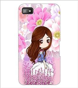 PrintDhaba Cute Girl D-4794 Back Case Cover for BLACKBERRY Z10 (Multi-Coloured)
