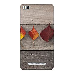 Delighted Leaves on Wood Back Case Cover for Xiaomi Mi4i