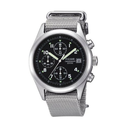 Pulsar Men's Black Dial Watch PJN305X1
