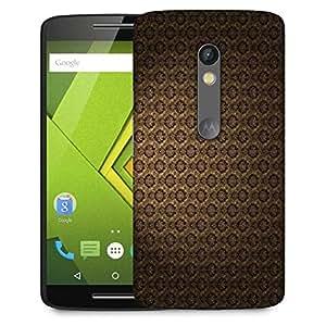 Snoogg Brown Pattern Layer Designer Protective Phone Back Case Cover For Lenovo Motorola Moto G4