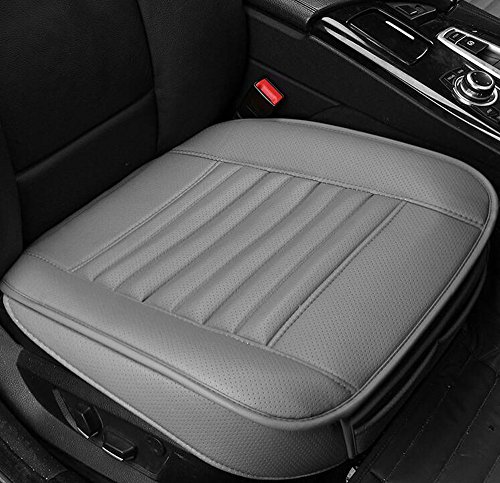 EDEALYN New Car cover interior bamboo charcoal PU Leather Soft Car seat cover seat cushion for Car ,Single seat without backrest 1pcs (Gray) (Car Seat Cover Honda compare prices)