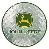 John Deere Round Sign, Embossed Diamond Design