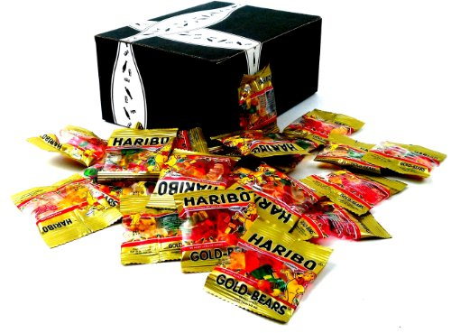 Haribo Gold Bear Minis Snack Sized Packets, 10 oz Bag in a Gift Box image