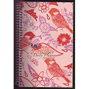 2010-2011 Daily Fashion Student Day Planner Organizer Agenda - August to August- Paisley Bird