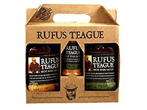 Rufus Teague Specialty Gift Set - Barbecue Sauce - Kosher OU - Honey Sweet, Apple Mash + Specialty Meat Rub