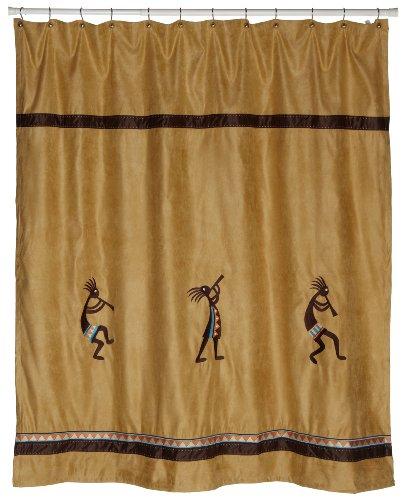 Avanti Linens Kokopelli Shower Curtain, Gold (Avanti Kokopelli compare prices)