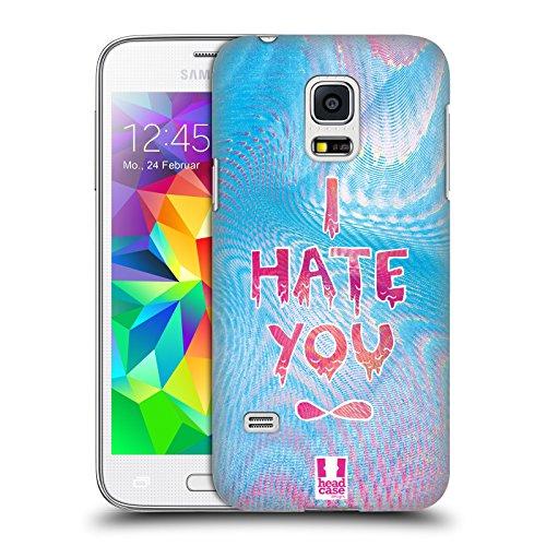 Head Case Designs I Hate You Sovrapposizioni Olografiche Cover Retro Rigida per Samsung Galaxy S5 mini