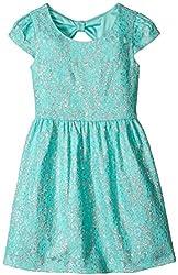 Speechless Little Girls' Glitter Lace Dress