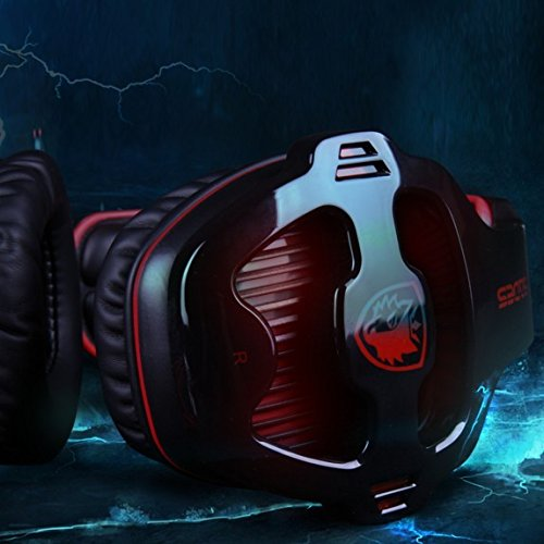 Sades Sa-903 7.1 Sound Effect Usb Gaming Headset Headphone Earset Earphone With Microphone Black / Red