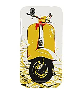 Snapdilla White Background Yellow Vintage Artistic Scooter Fantastic Stunning Mobile Cover for Acer Liquid Z630 :: Acer Liquid Z630S