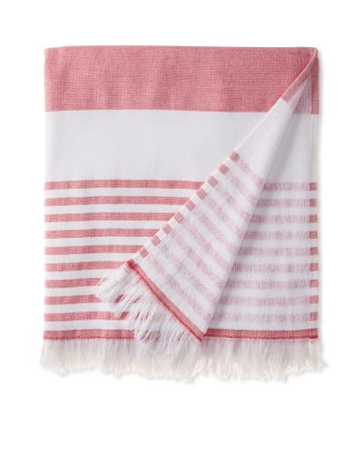 Nine Space Carmel Stripe Beach Towel, Red
