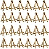 "US Art Supply® 5"" Mini Wood Display Easel Natural (24-Pack)"