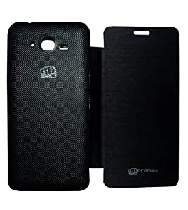 Shopaholic Flip Cover For Micromax Bolt A67  Black  available at Amazon for Rs.120