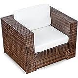 (1er) Polyrattan Lounge Möbel Sessel braun - Gartenmöbel (1er) Polyrattan Lounge Sessel, (1er) Polyrattan Lounge...