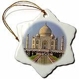 3dRose orn_75425_1 Taj Mahal, Agra, India-As10 Aje0014-Adam Jones-Snowflake Ornament, 3-Inch, Porcelain
