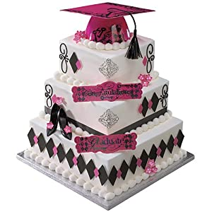 Cake Decorating Kit Of The Month : Amazon.com: Pink Graduation Cake Decorating Kit: Toys & Games