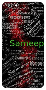 Sameep (Nearby; Close) Name & Sign Printed All over customize & Personalized!! Protective back cover for your Smart Phone : Moto G3 ( 3rd Gen )