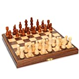 Travel Magnetic Folding Walnut Wood Chess Set