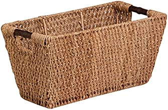Honey-Can-Do STO-02966 Sea Grass Basket Tote with Handles 2025 by 105 by 10-Inch Natural
