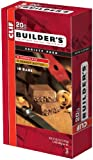Clif Bar Builder's Bar, Variety Pack, 9 Chocolate and 9 Chocolate Peanut Butter, 2.4-Ounce Bar, Pack of 18