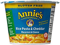 Annie\'s Homegrown Mac and Cheese Micro Cups: Single Pack - Gluten Free Rice Pasta and Cheddar - 2.01 oz - 12 Pack