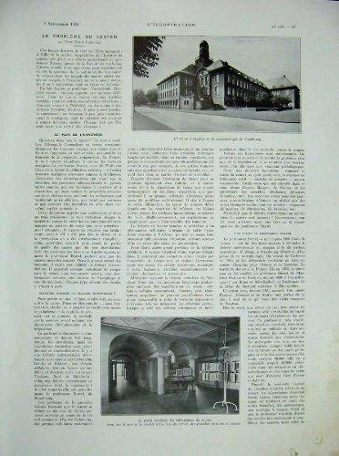 1934 French Laboratory Hospital Microscope Medicine