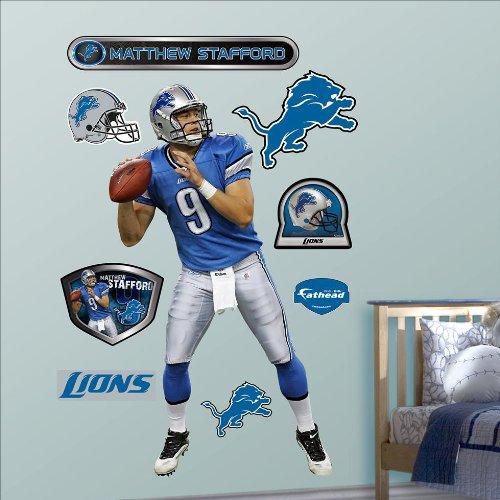 Matthew Stafford Detroit Lions Nfl Fathead Real.Big Wall Graphics