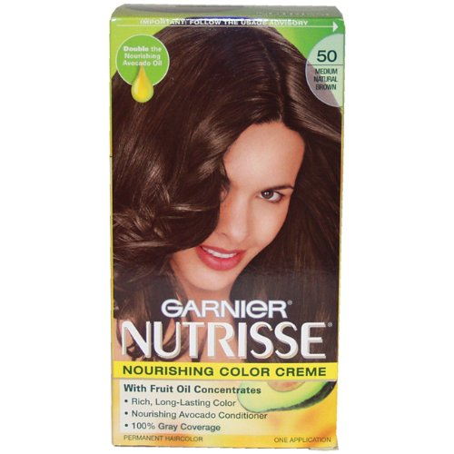 Review Garnier Nutrisse Haircolor 50 Medium Natural Brown Truffle  Mostdeal