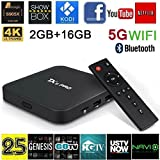 Cyber Monday Deal [2GB/16GB/5G Wifi] Quad Core Smart TV Box Android 6.0 Marshmallow Fxexblin Amlogic S905X TX5 Pro Fully Loaded Kodi Box 16.1 Bluetooth 4.0 4K HD Decoding H.265 Google Streaming Media Player