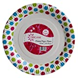 Origami Polka Dot Printed Disposable Paper Plate 50 Pieces