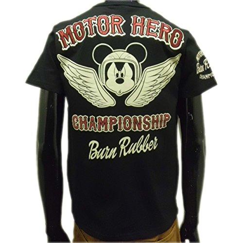 (ローブローナックル) LOWBLOWKNUCKLE×ミッキーマウスコラボレーション半袖Tシャツ (M) 黒