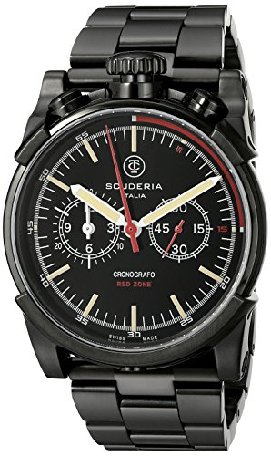 CT-Scuderia-Mens-CS10130-Red-Zone-Analog-Display-Swiss-Quartz-Black-Watch