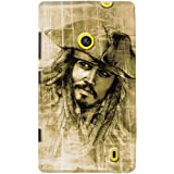 DailyObjects Jack Sparrow Case For Nokia Lumia 520 (Back Cover)