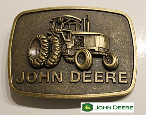 Raised Graphics ♈ Antique Bronze finish Belt Buckle Farm Country John Deere