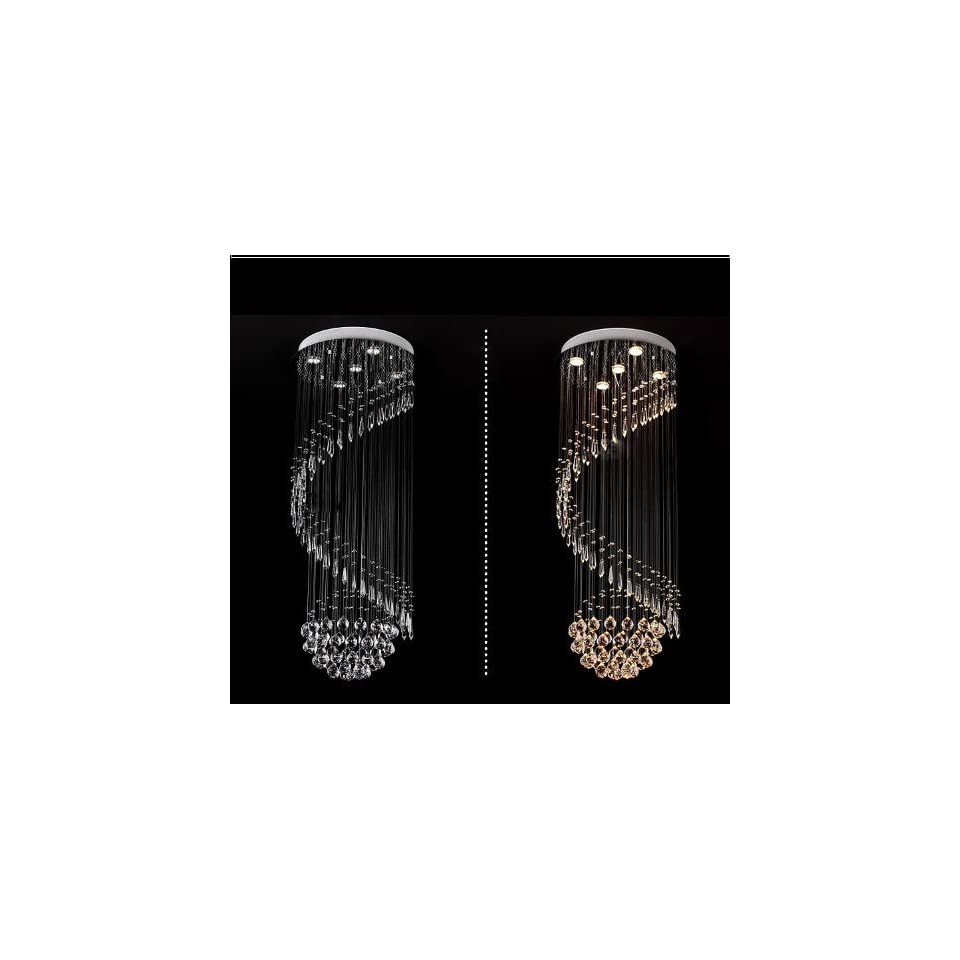 Nilight(TM) Modern Contemporary Crystal Pendant Light Ceiling Lamp Chandelier LED Lighting
