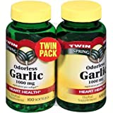 Odorless Garlic 1000 mg, Twin Pack