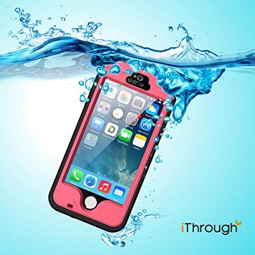 iPhone 5S Custodia impermeabile, iThroughTM iPhone 5 Custodia impermeabile, antipolvere, anti neve, anti urti, Heavy Duty copertura di caso protettivo portabile incluso un cavo per iPhone 5S, iPhone 5