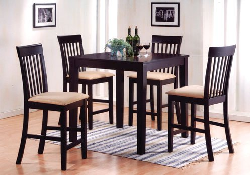 Set Of 2 Counter High Lido Pub Chair In Espresso Finish Ads90241B front-635283