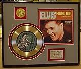 """Elvis Presley """"Hound Dog"""" Framed 24Kt Gold Record Art"""