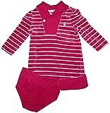 Ralph Lauren Polo Infant Girls 2 Piece Long Sleeve Velour Dress Pink