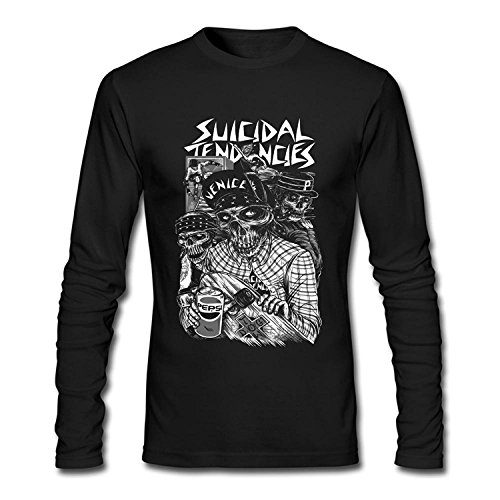 Men's Custom Suicidal Tendencies Band Skull Long Sleeve T Shirt