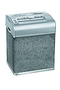 Fellowes 3700501 Shredmate destructeur de documents coupe croisée 4 feuilles Gris / Corbeille ajourée grise