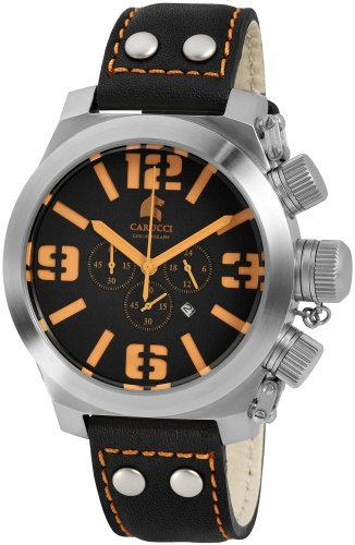 Carucci Gents Watch Quartz Chronograph CA2171B-BK-OR