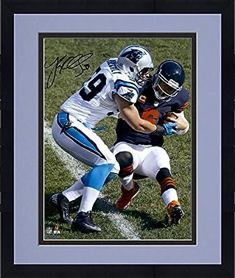 "Framed Luke Kuechly Carolina Panthers Autographed 16"" x 20"" Tackle Bears QB Photograph - Fanatics Authentic Certified"
