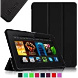 "Fintie Amazon Kindle Fire HDX 7"" SmartShell Case Cover Ultra Slim Lightweight with Auto Sleep / Wake Feature, Black"