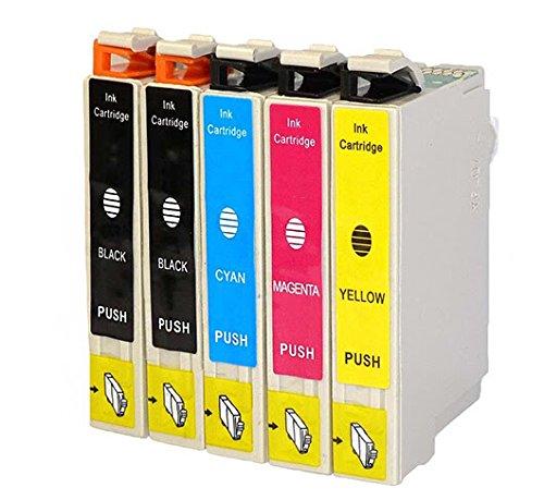 5 Pack Replacing Epson 220 220XL T220120 T220XL120 T220XL220 T220XL320 T220XL420 Color Set Ink Cartridge Use for Epson Expression XP-420 WorkForce WF-2630 WF-2650 WF-2660 Series Printers (T220 - 2K/1C/1M/1Y)
