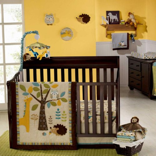 In the Forest 8 Piece Baby Crib Bedding Set with Bumper by Graco